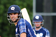 Scotland captain Kyle Coetzer during the One Day International match between Scotland and Zimbabwe at Grange Cricket Club, Edinburgh, Scotland on 17 June 2017. Photo by Kevin Murray.