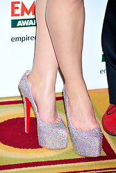 © under license to London News Pictures. 27/03/11. Noomi Rapace (shoe detail) on the Winners Boards at the Jamesons Empire Film Awards , Sunday 27th March 2011 at the Grosvenor House Hotel, Park Lane, London. Photo credit should read ALAN ROXBOROUGH/LNP