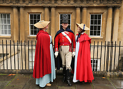 © Licensed to London News Pictures. 22/09/2019. Bath, UK. People dressed in period costume take part in the Jane Austen Festival in the city of Bath in Somerset. Today is the last day of the 10 day festival celebrating the life of Jane Austen. Photo credit: Jason Bryant/LNP