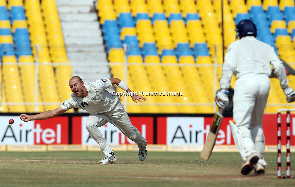 New Zealand Bowler Chris Martin Missing Harbhajan Singh Catch During The 1st Test India vs New Zealand Played at Sardar Patel Stadium, Motera, Ahmedabad