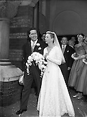1956 Wedding - Mr George Evans, Glenbeigh, Kerry and Miss Miriam Ann O'Connell