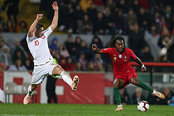 November 20, 2018 - Guimaraes, Guimaraes, Portugal - Renato Sanches midfielder of Portugal (R) vies with Grzegorz Krychowiak midfielder of Poland (L) during the UEFA Nations League football match between Portugal and Poland at the Dao Afonso Henriques stadium in Guimaraes on November 20, 2018. (Credit Image: © Dpi/NurPhoto via ZUMA Press)
