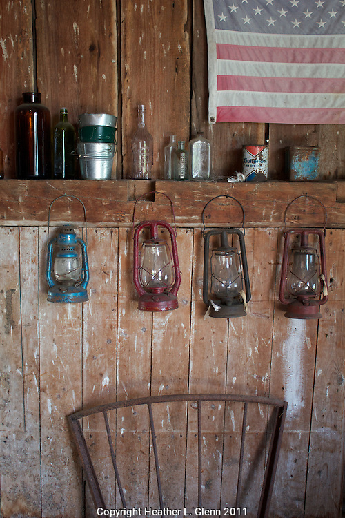 A collection of antiques in Morrisville, Vermont