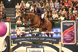 Philippaerts Olivier, (BEL), Challenge vd Begijnakker<br /> Longines FEI World Cup<br /> CSIO Leipzig 2016<br /> © Hippo Foto - Stefan Lafrentz