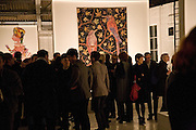 demons, yarns and tales. Tapestries by Contemporary Artists. Exhibition curated by Banners of Persuasion. The Dairy, Wakefield st. WC1. 11 November 2008.  *** Local Caption *** -DO NOT ARCHIVE -Copyright Photograph by Dafydd Jones. 248 Clapham Rd. London SW9 0PZ. Tel 0207 820 0771. www.dafjones.com