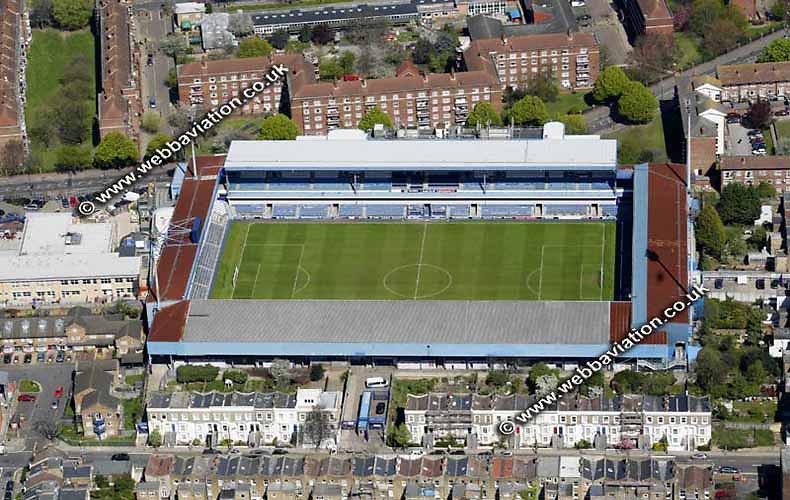 aerial photograph of Queens Park Rangers QPR  football Club Stadium  London   England UK