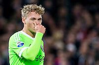 ROTTERDAM - Feyenoord - Ajax , Voetbal , KNVB Beker , Seizoen 2015/2016 , Stadion de Kuip , 25-10-2015 , Grootste kans in de eerste helft was voor Ajax speler Viktor Fischer die hij miste