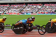 David Weir of Great Britain during the T54 800m Mens at the Muller Anniversary Games at the London Stadium, London, England on 9 July 2017. Photo by Martin Cole.