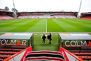The Vitality Stadium before the The FA Cup match between Bournemouth and Everton at the Goldsands Stadium, Bournemouth, England on 20 February 2016. Photo by Graham Hunt.