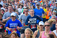 Spring Lake, NJ 07762 - May 24, 2014. Runners showing determination early in the annual Spring Lake 5k race. Editorial Use Only.