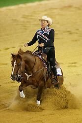 Sternberg Francesca, (GBR), Ten Reasons<br /> Reining individual<br /> European Championships - Aachen 2015<br /> © Hippo Foto - Dirk Caremans<br /> 16/08/15