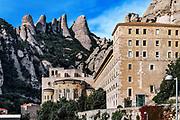 Santa Maria de Montserrat Abbey, Monistrol de Montserrat,  Catalonia, Spain