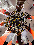 Members of the Los Angeles Rams huddle prior to a preseason NFL football game against the Kansas City Chiefs, Saturday, Aug. 20, 2016, in Los Angeles. (AP Photo/Ryan Kang)