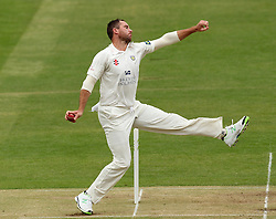 Durham's John Hastings bowls - Photo mandatory by-line: Robbie Stephenson/JMP - Mobile: 07966 386802 - 03/05/2015 - SPORT - Football - London - Lords  - Middlesex CCC v Durham CCC - County Championship Division One