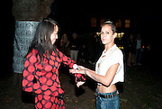 "YI ZHOU; ALICE DELLAL, Video artist Yi Zhou  first solo show ""I am your Simulacrum"".Exhibition opening at 20 Hoxton Square Projects. Hoxton Sq. London. 1 September 2010.  -DO NOT ARCHIVE-© Copyright Photograph by Dafydd Jones. 248 Clapham Rd. London SW9 0PZ. Tel 0207 820 0771. www.dafjones.com."