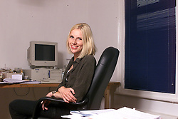Jenny Mayhew Screenwriter. Jenny has just written a film on Cromwell, May 17, 2000. Photo by Andrew Parsons / i-images..