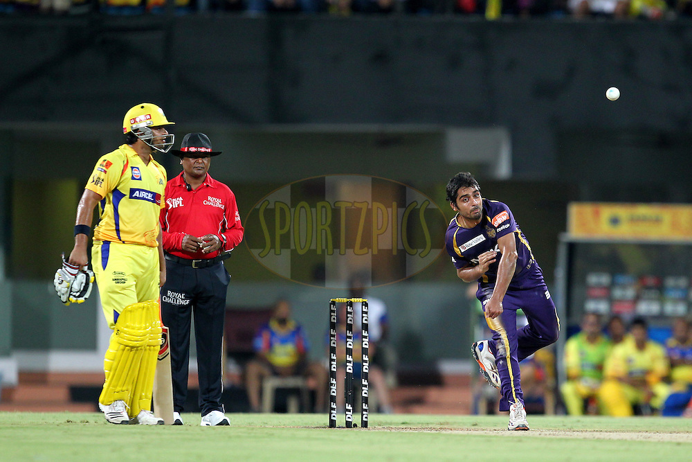 I. Abdulla bowls during match 41 of the the Indian Premier League ( IPL) 2012  between The Chennai Superkings and the Kolkata Knight Riders held at the M. A. Chidambaram Stadium, Chennai on the 30th April 2012..Photo by Prashant Bhoot/IPL/SPORTZPICS