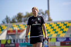 LARNACA, CYPRUS - Wednesday, March 7, 2018: Wales' manager Jayne Ludlow before the Cyprus Women's Cup match between Austria and Wales on day nine of the Cyprus Cup tournament at the AEK Arena - Georgios Karapatakis. (Pic by David Rawcliffe/Propaganda)