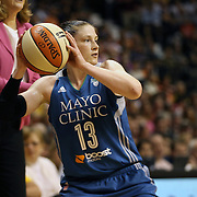 Lindsay Whalen, Minnesota Lynx, in action during the Connecticut Sun Vs Minnesota Lynx, WNBA regular season game at Mohegan Sun Arena, Uncasville, Connecticut, USA. 27th July 2014. Photo Tim Clayton