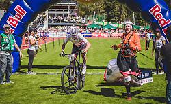 08.09.2018, Lienz, AUT, 31. Red Bull Dolomitenmann 2018, im Bild Geismayr Daniel (AUT, Kolland Topsport Professional), Maurer Chrigel (SUI, Kolland Topsport Professional) // Geismayr Daniel (AUT, Kolland Topsport Professional), Maurer Chrigel (SUI, Kolland Topsport Professional) during the 31th Red Bull Dolomitenmann. Lienz, Austria on 2018/09/08, EXPA Pictures © 2018, PhotoCredit: EXPA/ JFK