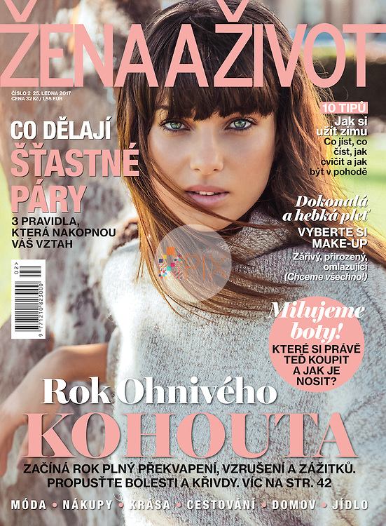 Our gorgeous winter cover for the January issue of ZENA A ZIVOT magazine in Czech Republic.<br />