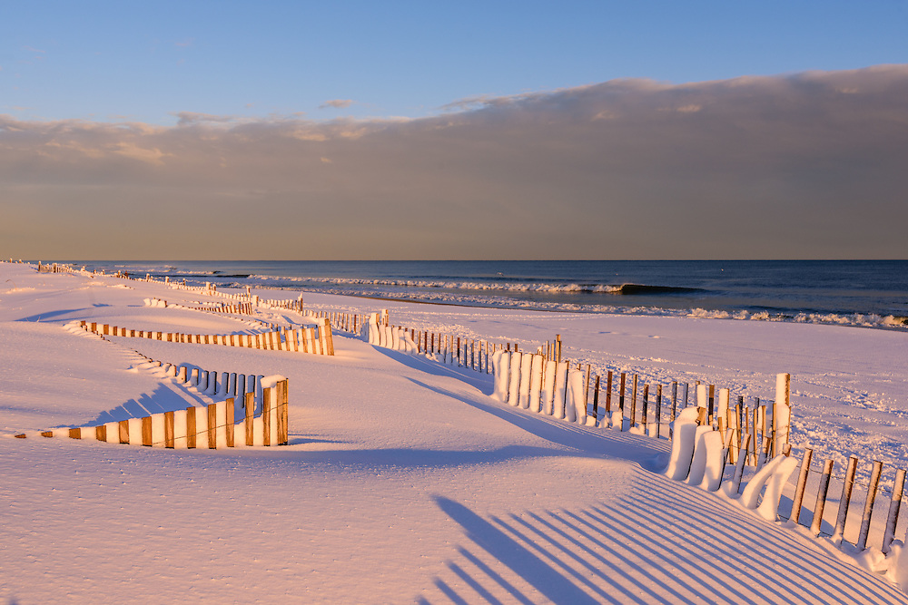 Snow, Sagg Main Beach, Sagaponack, NY