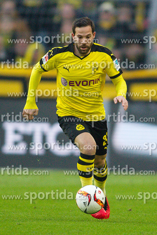 13.03.2016, Signal Iduna Park, Dortmund, GER, 1. FBL, Borussia Dortmund vs 1. FSV Mainz 05, 26. Runde, im Bild Gonzalo Castro (Borussia Dortmund #27) // during the German Bundesliga 26th round match between Borussia Dortmund and 1. FSV Mainz 05 at the Signal Iduna Park in Dortmund, Germany on 2016/03/13. EXPA Pictures &copy; 2016, PhotoCredit: EXPA/ Eibner-Pressefoto/ Schueler<br /> <br /> *****ATTENTION - OUT of GER*****