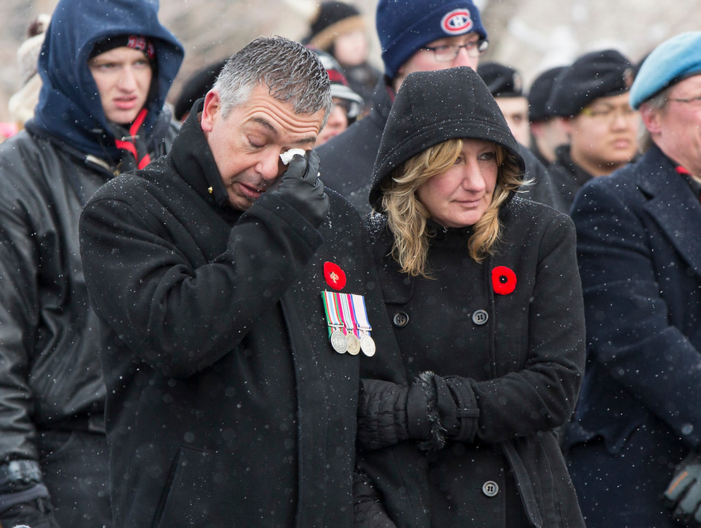 Remembrance Day service brings forth emotions for veteran Jim Ralph at the Military Museum in Calgary on Tuesday November 11, 2014. (Jenn Pierce/Calgary Herald)
