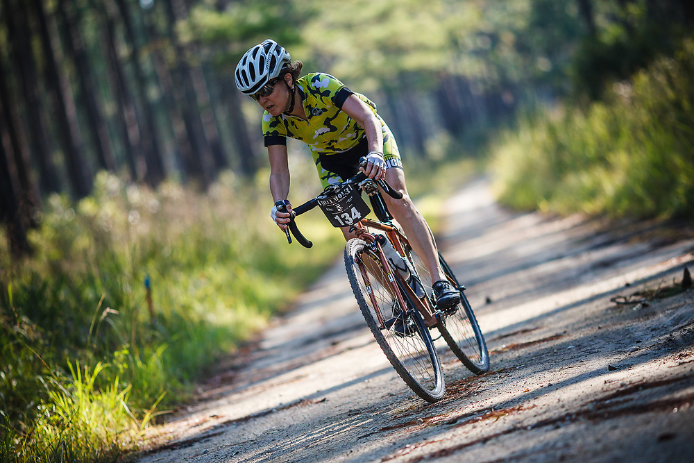 Images from stage 1/day 1 of the 2017 Hellhole Gravel Grind cycling race in the Francis Marion National Forest near Witherbee and Charleston, South Carolina.