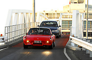 Ted Banks & Alex Banks .1971 Porsche 916.Arrive off the Spirit of Tasmania into Devonport.Pre Event.Targa Tasmania 2009.27th of April 2009.(C) Joel Strickland Photographics.