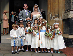 The bride & groom CHLOE & LOUIS BUCKWORTH with the bridesmaids & page boys at the wedding of Chloe Delevingne to Louis Buckworth at St.Paul's Knightsbridge, London on 7th September 2007.<br /><br />NON EXCLUSIVE - WORLD RIGHTS