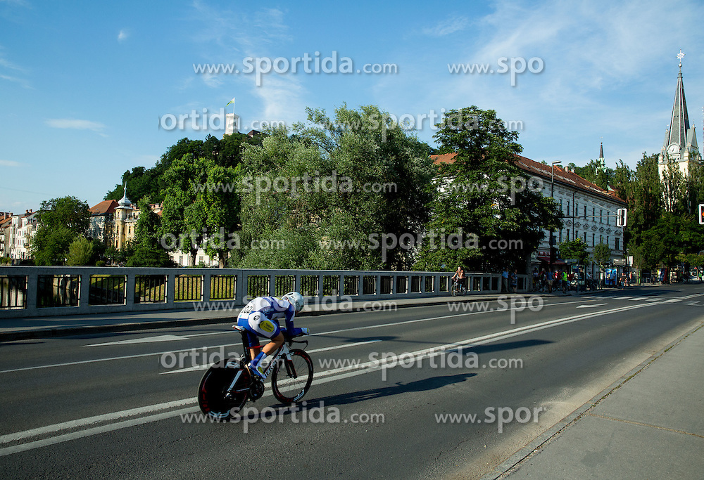 VAN MEIRHAEGHE Jef (Belgium) of Topsport Vlaanderen - Baloise competes during Stage 1 of 22nd Tour of Slovenia 2015 - Time Trial 8,8 km cycling race in Ljubljana  on June 18, 2015 in Slovenia. Photo by Vid Ponikvar / Sportida