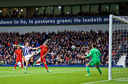 WEST BROMWICH, ENGLAND - Easter Sunday, April 16, 2017, 2016: Liverpool's Roberto Firmino scores the first goal against West Bromwich Albion during the FA Premier League match at the Hawthorns. (Pic by David Rawcliffe/Propaganda)