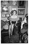 Baroness Francesca Thyssen at a party given by Valentino. Annabel's. 15 September 1987. © Copyright Photograph by Dafydd Jones 66 Stockwell Park Rd. London SW9 0DA Tel 020 7733 0108 www.dafjones.com
