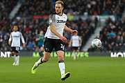 Matthew Clarke  clears the ball during the EFL Sky Bet Championship match between Derby County and Hull City at the Pride Park, Derby, England on 18 January 2020.