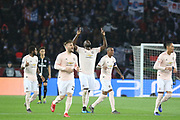 GOAL Manchester United Forward Romelu Lukaku celebrates 0-1 during the Champions League Round of 16 2nd leg match between Paris Saint-Germain and Manchester United at Parc des Princes, Paris, France on 6 March 2019.