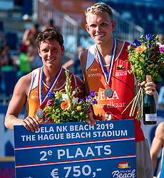 25-08-2019 NED: DELA NK Beach Volleyball, Scheveningen<br /> Last day NK Beachvolleyball / Dirk Boehlé, Stefan Boermans