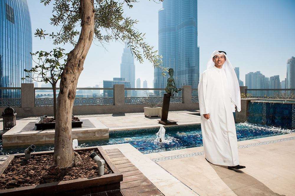 Chairman of Emaar Properties, Mohamed Ali Rashed Alabbar in a portrait for The Sunday Times in Dubai, UAE on Thursday, February 7, 2013<br />