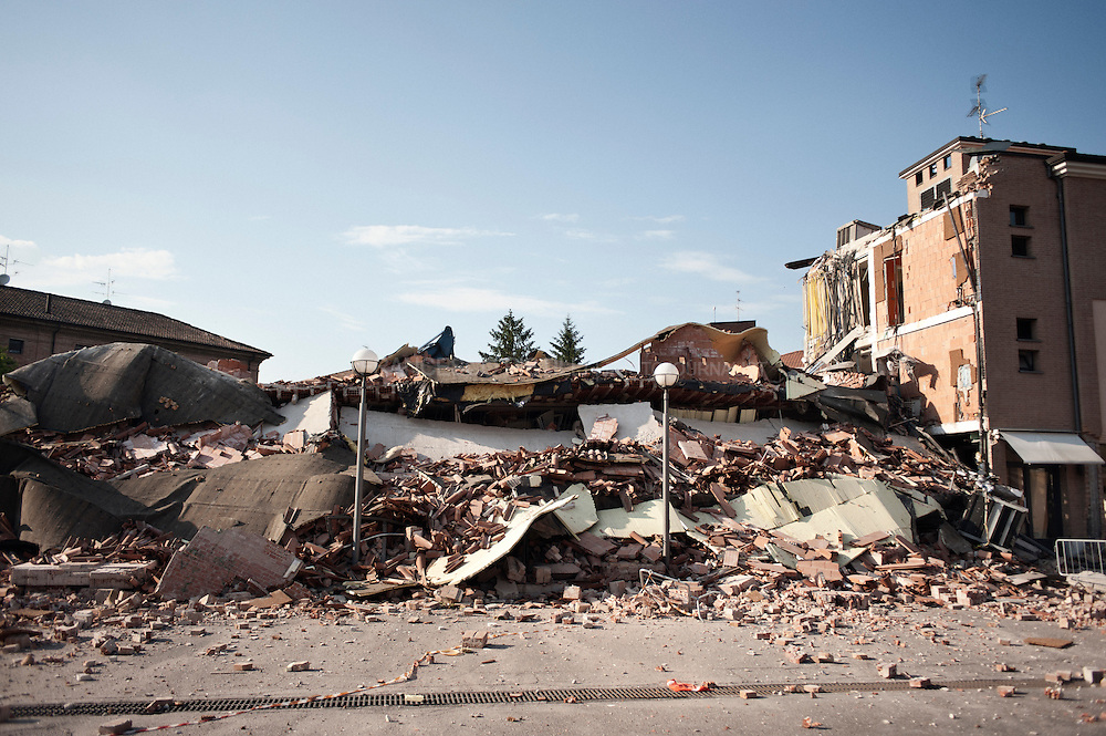 Italy, Cavezzo (MO). May 29th 2012 A powerful earthquake struck Emilia Romagna killing 16 people, injured 350, left around 14.000 homeless.