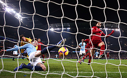 File photo dated 03-01-2019 of Manchester City's John Stones (left) clears the ball off the line after hitting the ball against goalkeeper Ederson (background) during the Premier League match at the Etihad Stadium, Manchester.