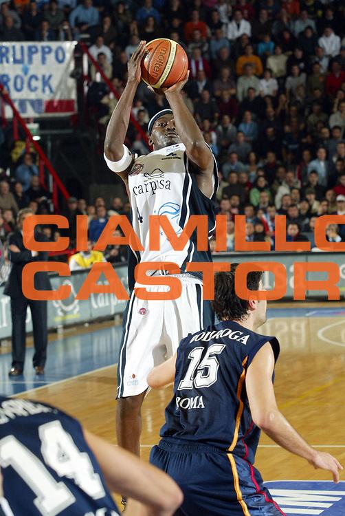 DESCRIZIONE : Napoli Lega A1 2005-06 Carpisa Napoli Basket-Lottomatica Virtus Roma<br /> GIOCATORE : Sesay<br /> SQUADRA : Carpisa Napoli Basket<br /> EVENTO : Campionato Lega A1 2005-2006<br /> GARA : Carpisa Napoli Basket Lottomatica Virtus Roma<br /> DATA : 06/01/2006 <br /> CATEGORIA : <br /> SPORT : Pallacanestro <br /> AUTORE : Agenzia Ciamillo-Castoria/G.Ciamillo<br /> Galleria : Lega Basket A1 2005-2006<br /> Fotonotizia : Napoli Lega A1 2005-06 Carpisa Napoli Basket Lottomatica Virtus Roma  <br /> Predefinita :