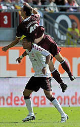 24.07.2010, Fritz-Walter Stadion, Kaiserslautern, GER, 1. FBL, Friendly Match, 1.FC Kaiserslautern vs FC Liverpool, im Bild Jiri BILEK (Kaiserslauern #19 CZ) im Zweikampf mit David NGOG (Liverpool #9), EXPA Pictures © 2010, PhotoCredit: EXPA/ nph/  Roth+++++ ATTENTION - OUT OF GER +++++