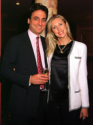 Model KATRINA SKEPPER and her husband COUNT ALLESANDRO GUERRINI-MARALDI, at a party in London on 12th October 1999.MXM 12