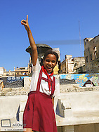 Havanna Vieja, old city, school girl, viva la cuba, Cuba, Havanna