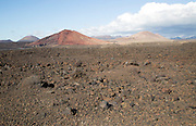 Malpais badlands volcanic landscape Parque Natural Los Volcanes, Yaiza, Lanzarote, Canary islands, Spain