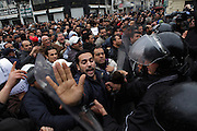 People still protest against the partecipation of the Constitutional Democratic Rally, RCD, party of Ben Ali, to the national unity government that today january 18 lost three ministers of the opposition.