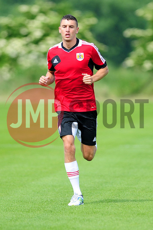 Bristol City's James Wilson - Photo mandatory by-line: Dougie Allward/JMP - Tel: Mobile: 07966 386802 27/06/2013 - SPORT - FOOTBALL - Bristol -  Bristol City - Pre Season Training - Npower League One