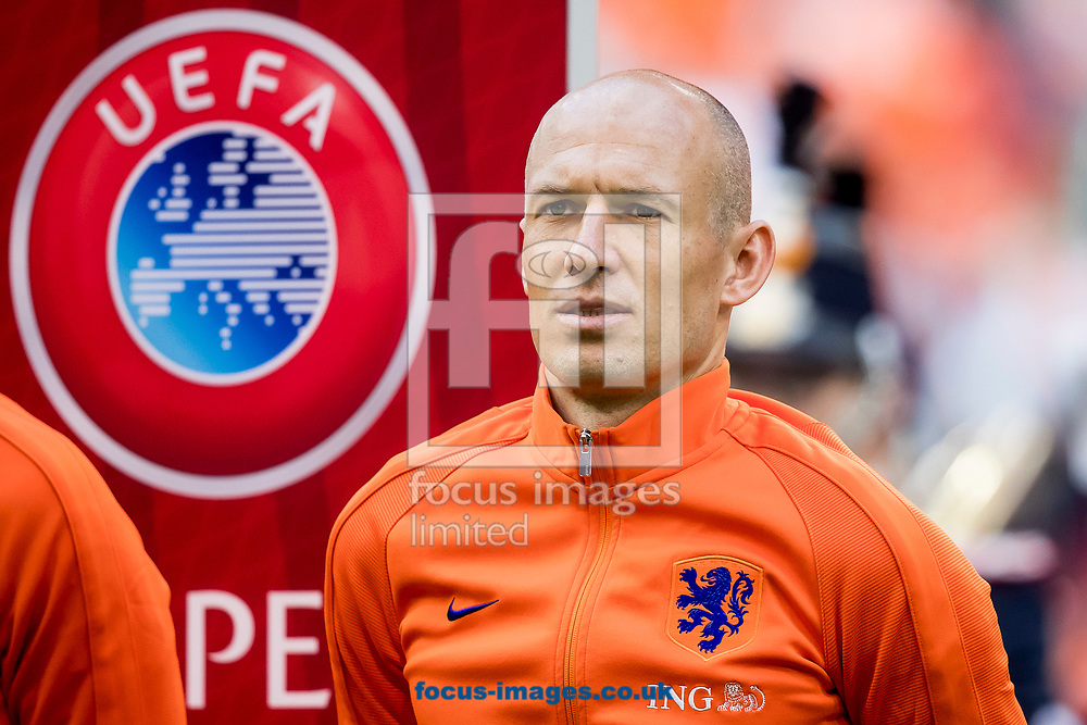 Arjen Robben of Netherlands before the 2018 FIFA World Cup Qualifying match at Amsterdam Arena, Amsterdam<br /> Picture by Joep Joseph Leenen/Focus Images Ltd +316 5261929<br /> 03/09/2017<br /> ***NETHERLANDS OUT***