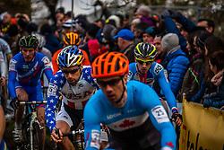 Timothy JOHNSON (15, USA) 1st lap at Men UCI CX World Championships - Hoogerheide, The Netherlands - 2nd February 2014 - Photo by Pim Nijland / Peloton Photos