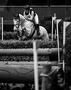 Dasha Ivandaeva rides Autorytet in the Horseware Indoor Eventing challenge at The Royal Horse Show, TORONTO, CANADA.  November 4 2016